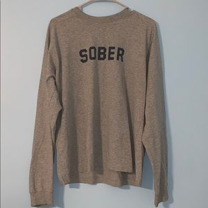 """Sober"" Abercrombie and Fitch Long- Sleeve T-Shirt"